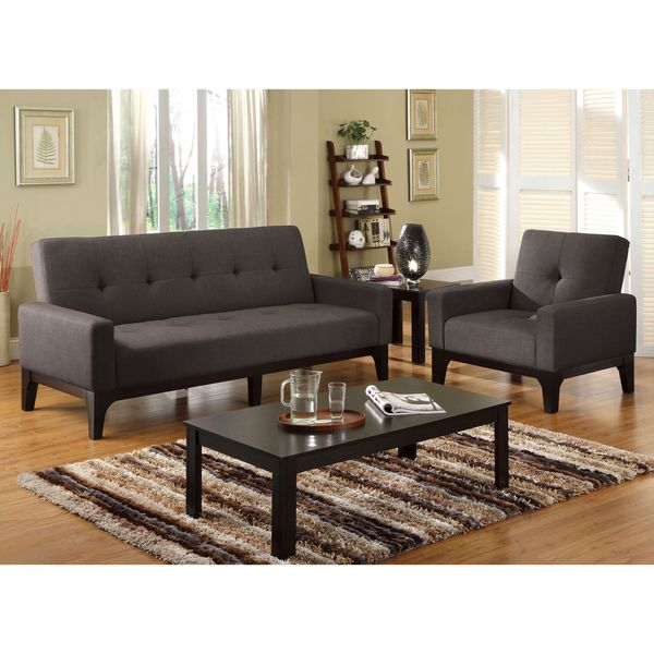 Furniture Of America Charlie Charcoal Convertible Futon Chair Set Com Ping