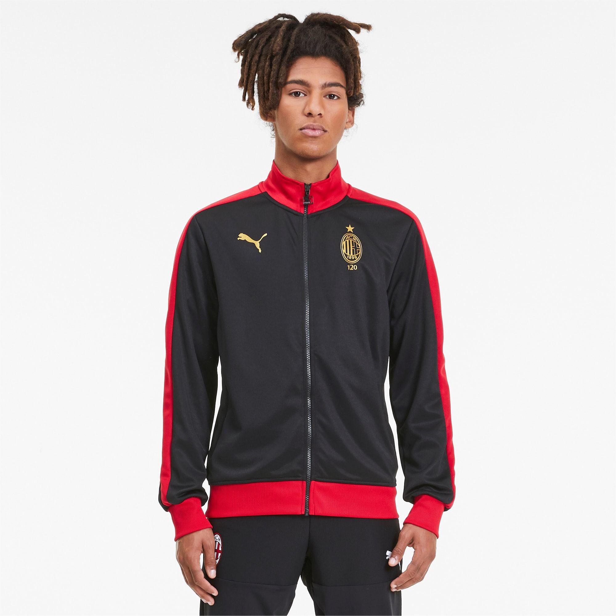 Adidas Originals AC Milan Superstar Track Top Black Victory Red