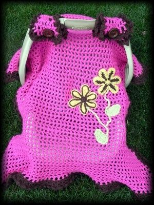 Spring Flowers Infant Car Seat Canopy Pattern Level: Easy | crochet ...