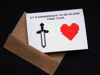 Etsy Picks Of The Week Geeky Valentine S Day Cards Zelda Gifts Zelda Birthday Valentine Day Cards