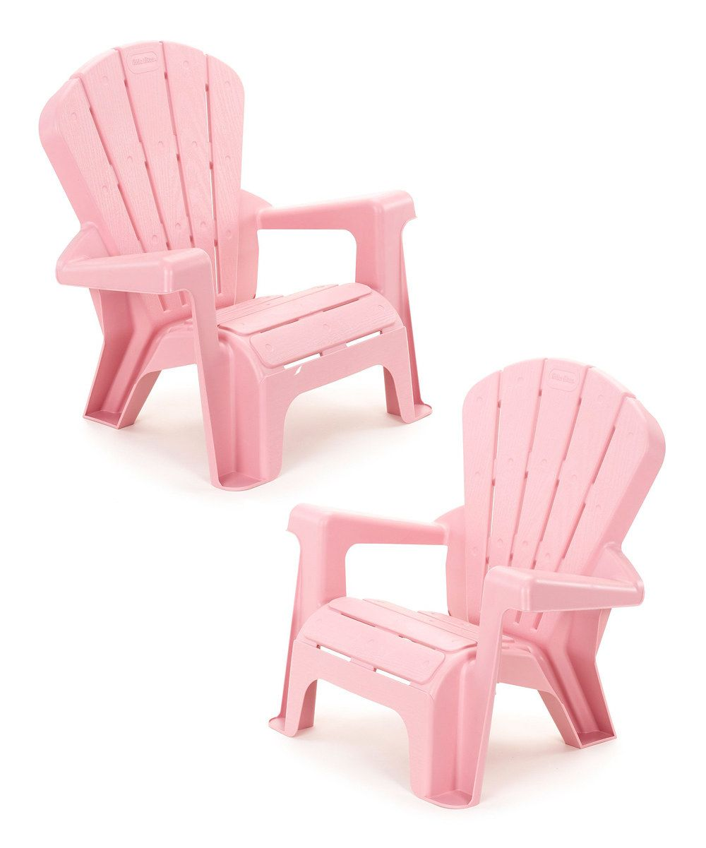 Look at this Little Tikes Pink Garden Chair - Set of Two ...