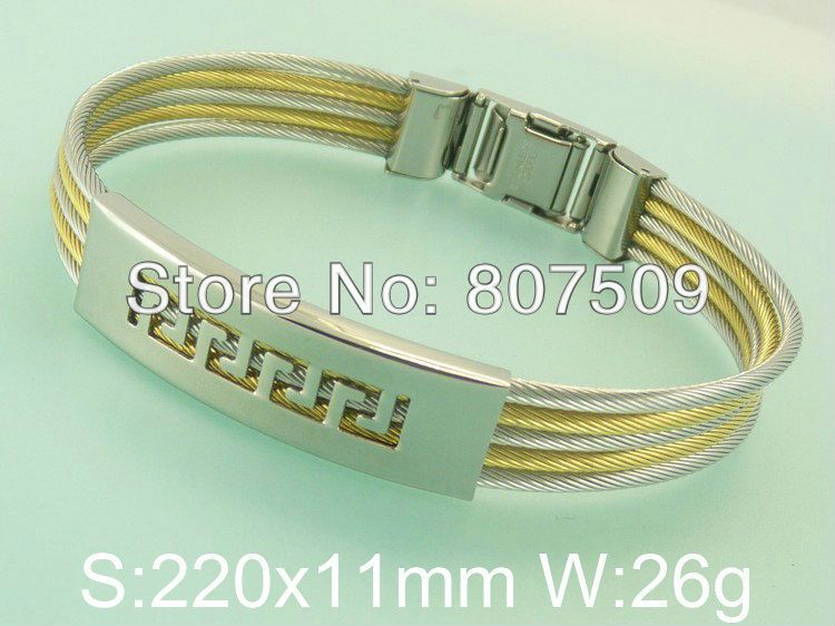 Accessories Hot Selling Stainless Steel Cuff Bangle Bracelet Wholesale Fashion Costume Jewelry New Arrival Product BF14234-in Wholesale from Jewelry on Aliexpress.com
