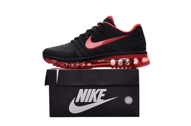 Nike Air Max 2017 Women Men Black Red KPU Shoes