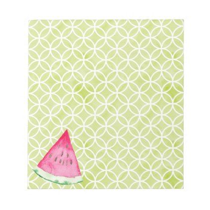 Watermelon Notepad - home gifts ideas decor special unique custom individual customized individualized