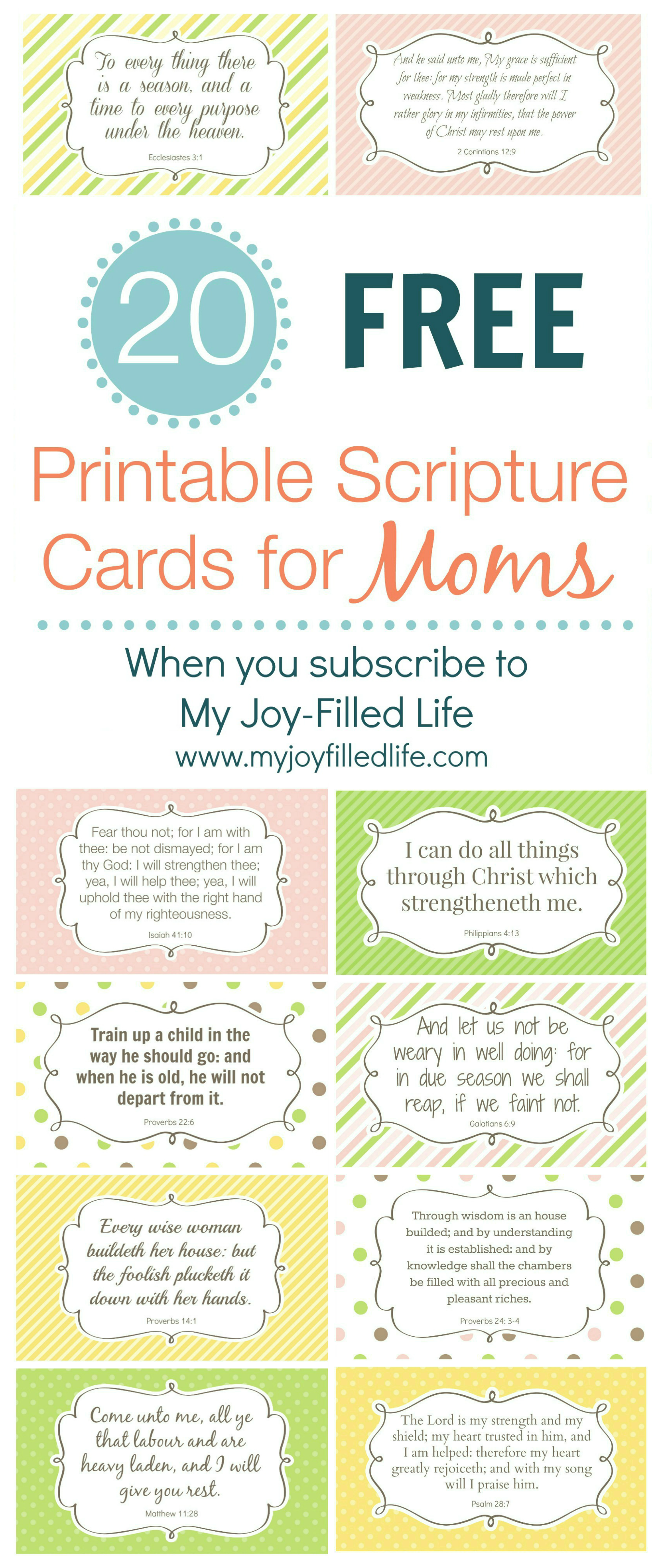encouragement for moms free printable scripture cards. Black Bedroom Furniture Sets. Home Design Ideas