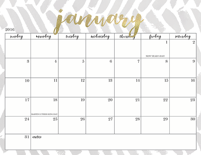 Free Printable 2016 Calendars Lovely Freebies