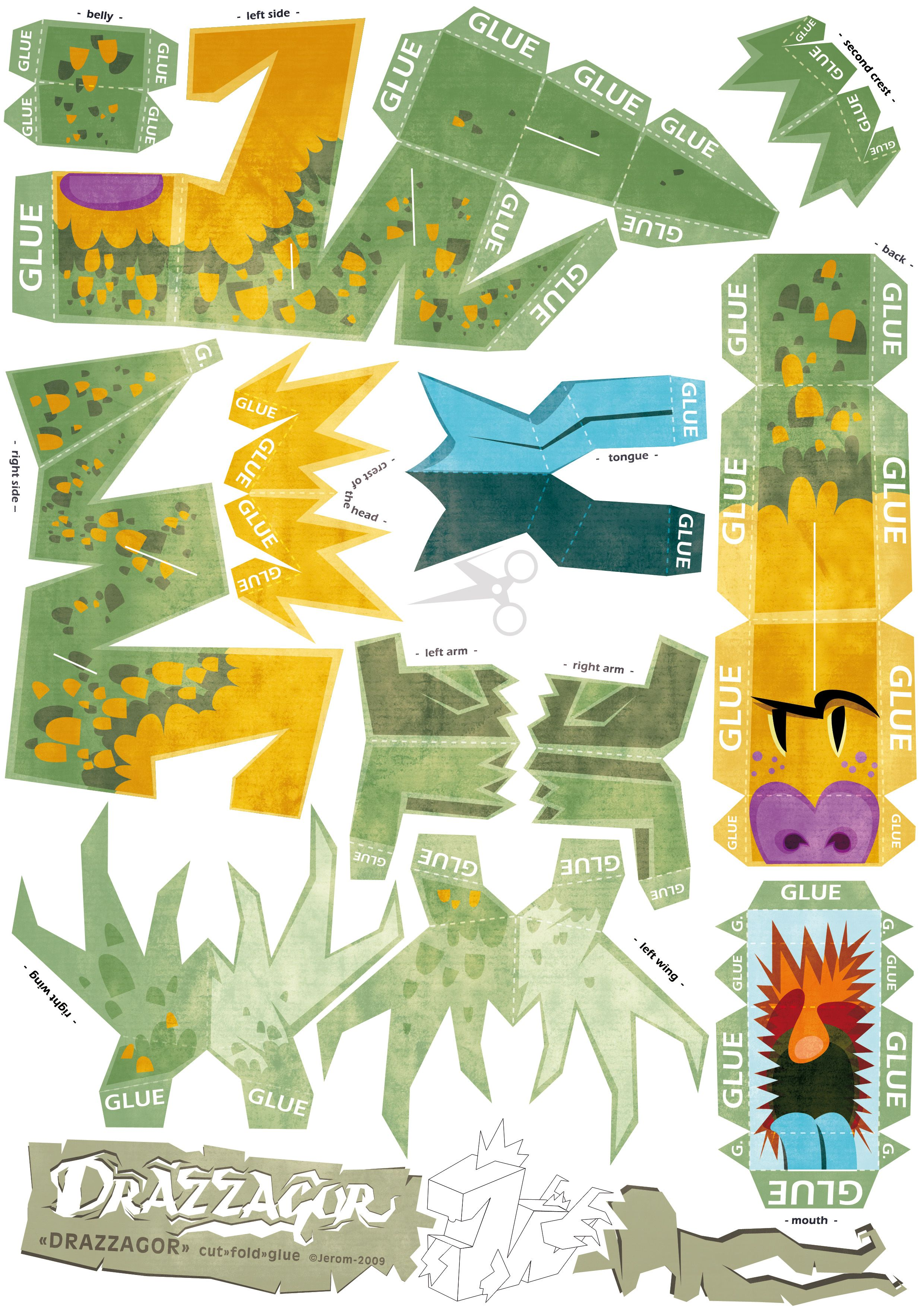 dragon paper-toy | Paper folding Dragons and dino's ... - photo#11