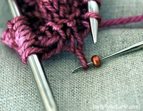 adding beads to knitting!