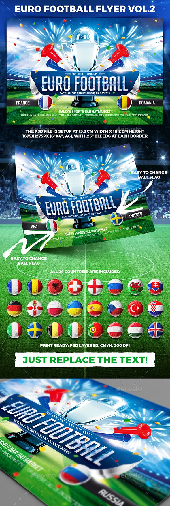 Euro Football Flyer Vol  Euro Flyer Template And Template