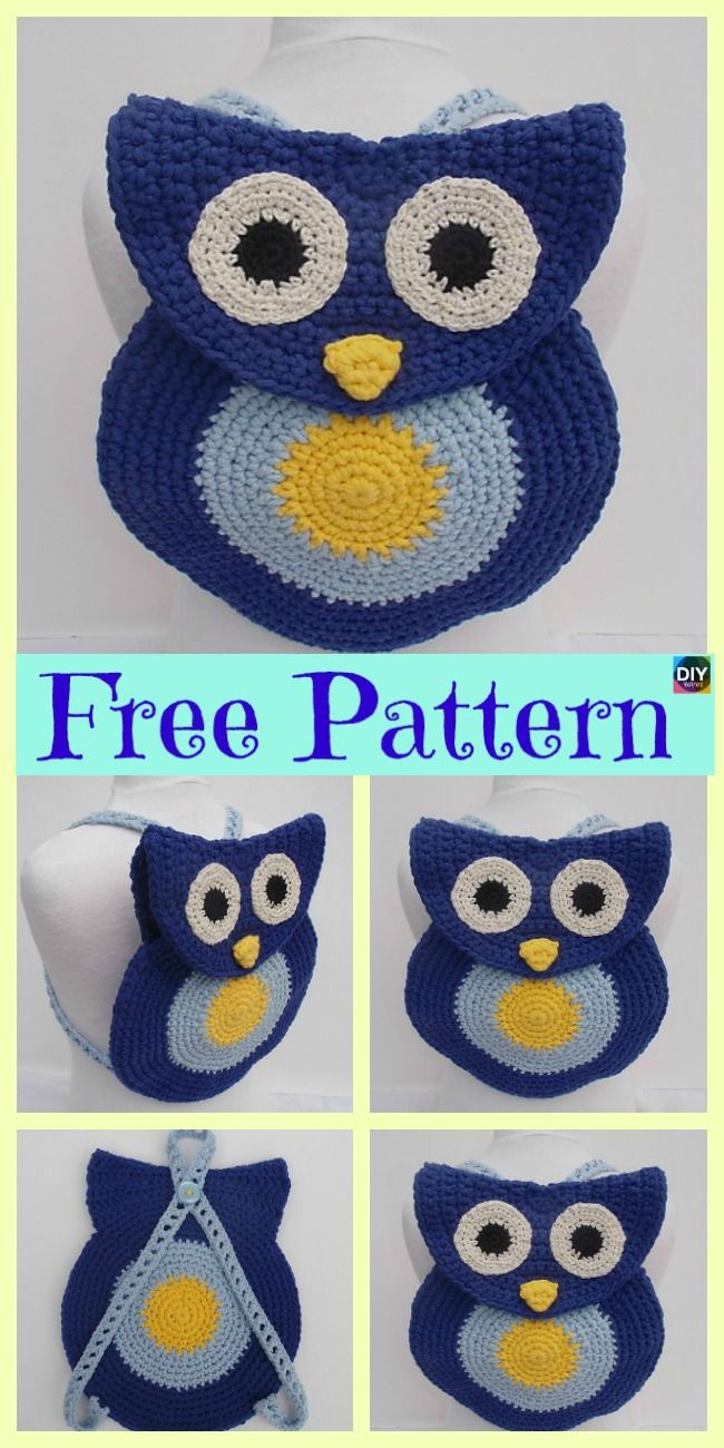 Adorable Crochet Owl Bag - Free Patterns | Crochet - Inspiration ...