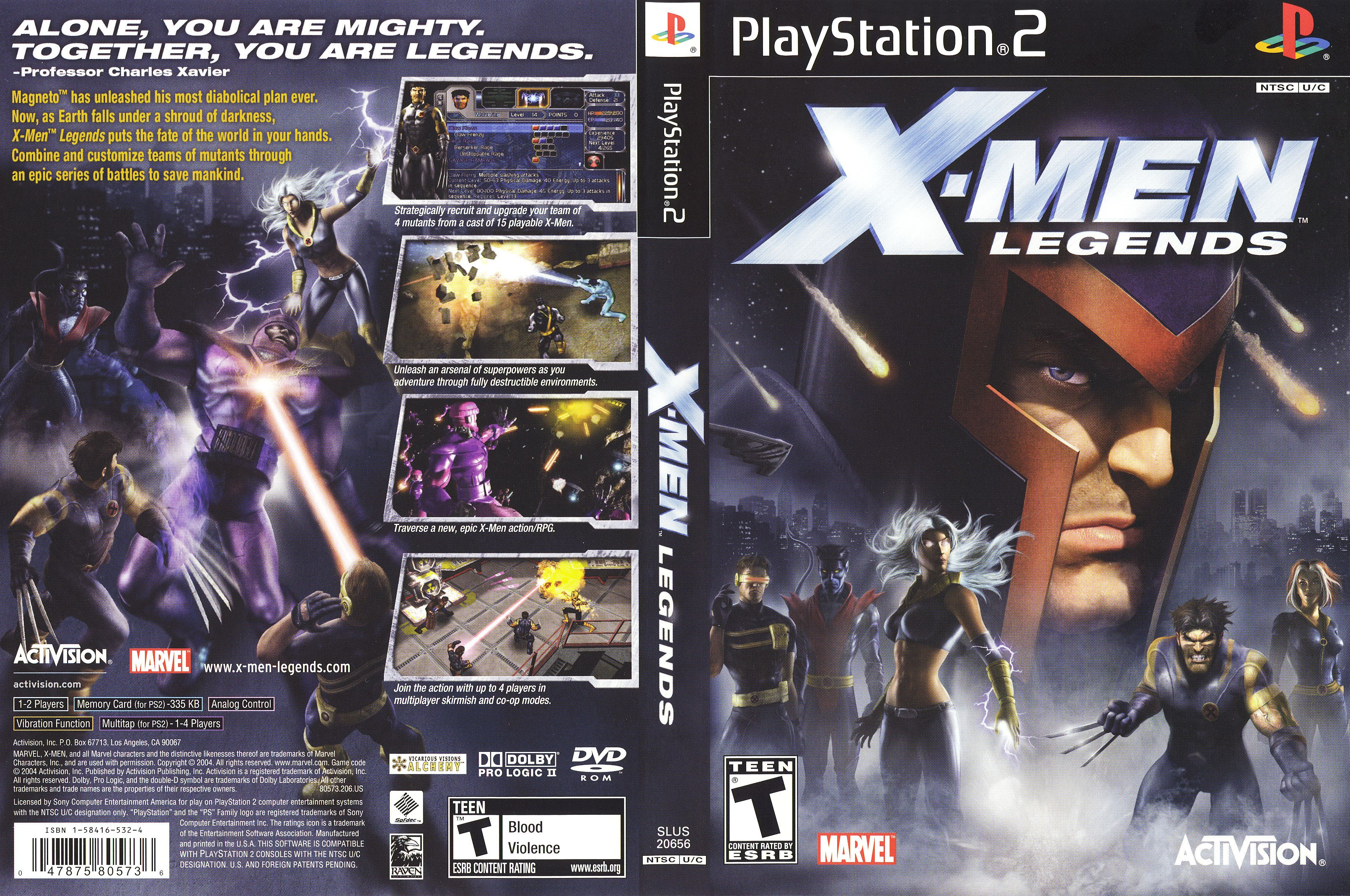 X Men Legends Legend Xmen Xbox