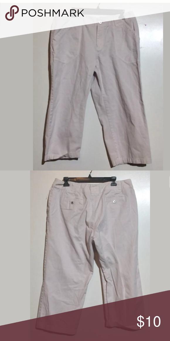 307baa5ea1a Liz Claiborne Women Size 16 100% Cotton Capri