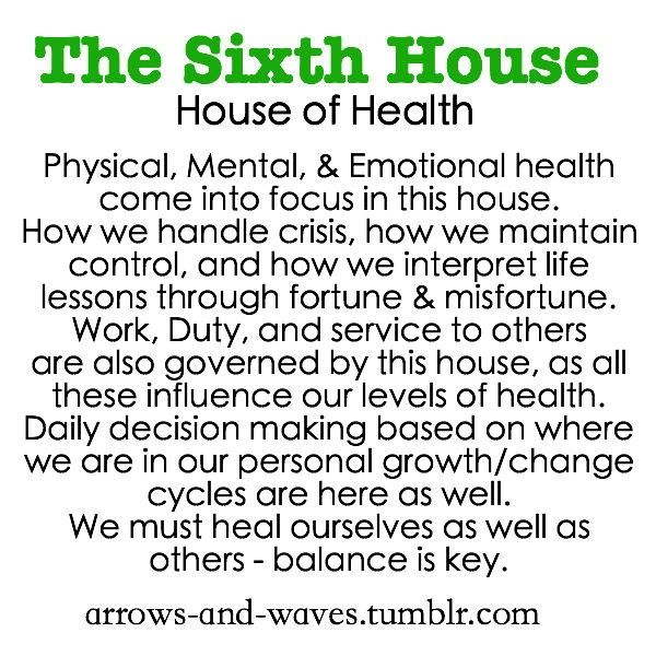 Astrology: 6th (Sixth) House (House of Health) | #Astrology