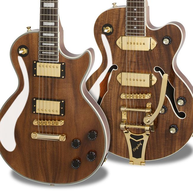 ltd ed les paul custom pro koa epiphone ltd ed wildkat koa w bigsby instruments in 2019. Black Bedroom Furniture Sets. Home Design Ideas