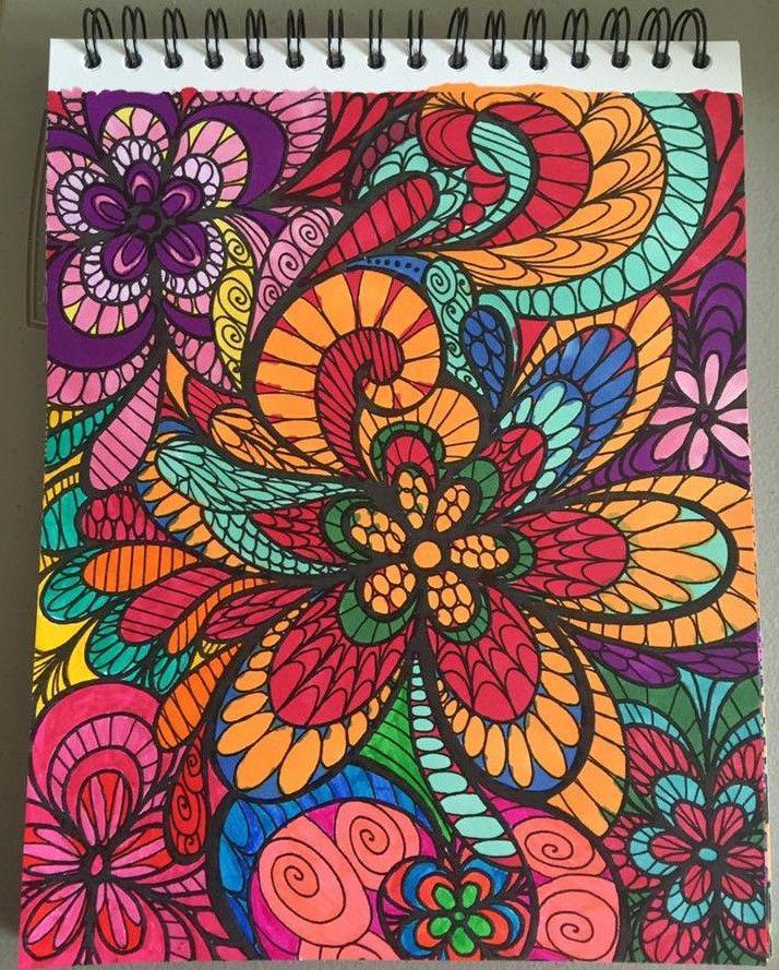 ColorIt Colorful Flowers Volume 1 Colorist Lisa Lufton Lubrano
