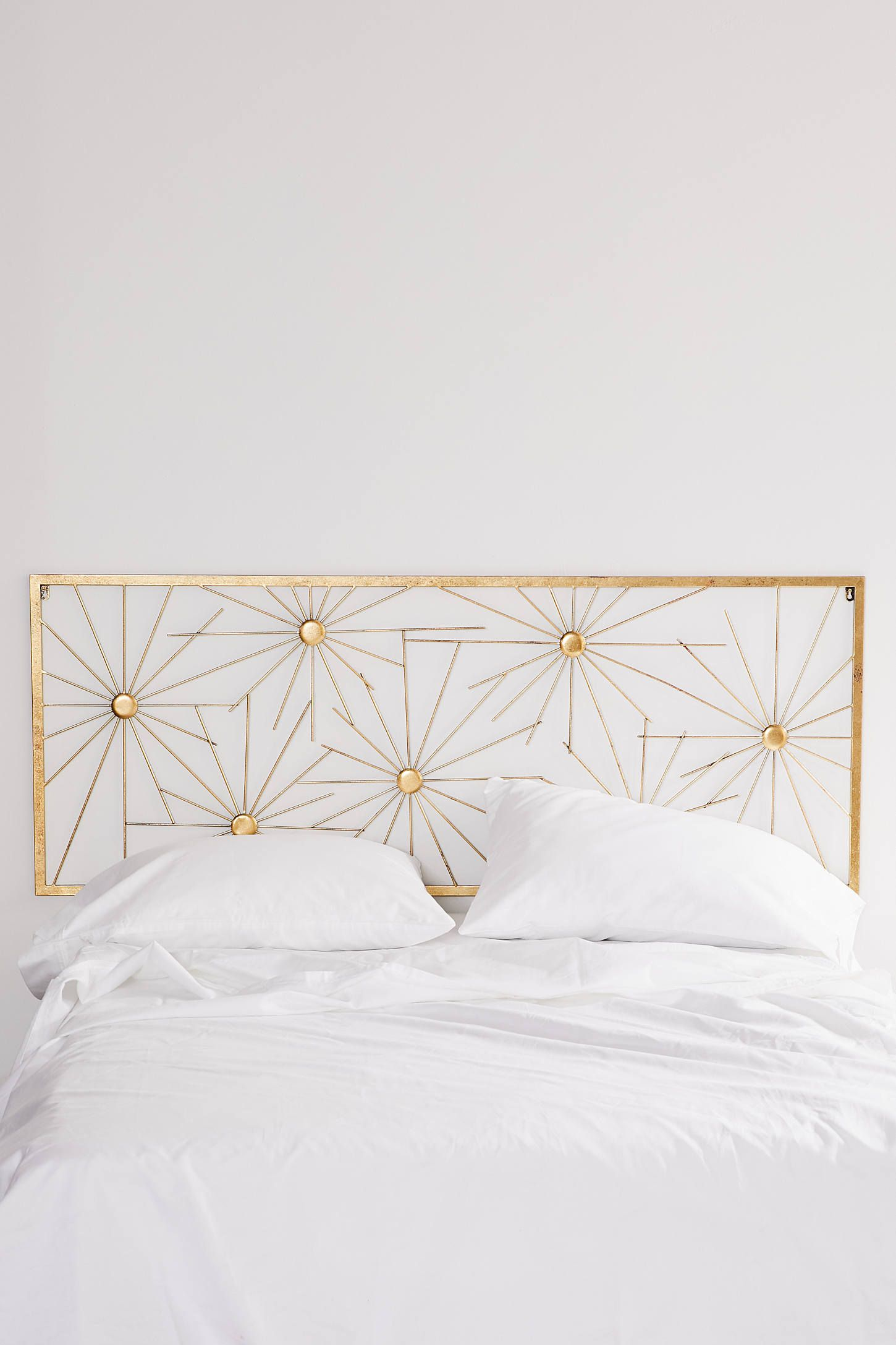 Metal Sunburst Headboard Headboard Decor Metal Headboard Gold Bed Frame