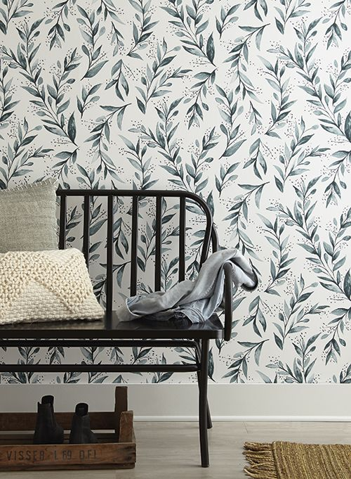 The versatile Olive Branch wallpaper from Magnolia Home Wallpaper Vol. 2