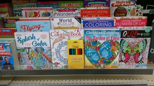 Same Walgreens Store Another Pic Of The Adult Coloring Books