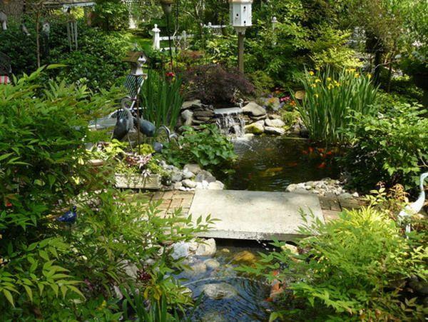 Garden Patio   Beautiful Koi Fish Pond For Garden Patio Decoration .