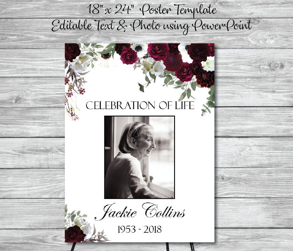 This Item Is Unavailable Etsy Funeral Posters Funeral Guest Book Memorial Favors