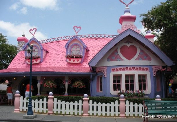 Minnie Mouse's Pink & Purple Cottage at Disney World - Hooked on Houses