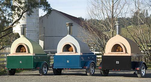 A Mobile Wood Burning Pizza Oven Mobile Businesses Pinterest
