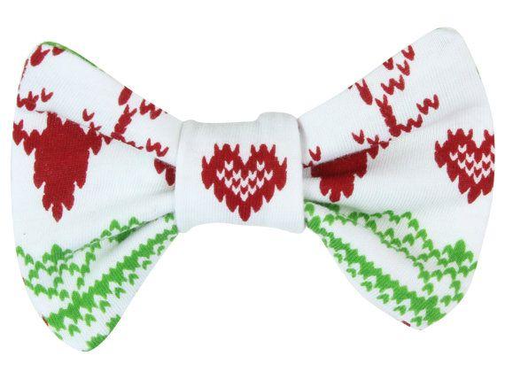 Christmas Fairisle Deer Baby Toddler Hair Bow by TwoDreamsShop ...