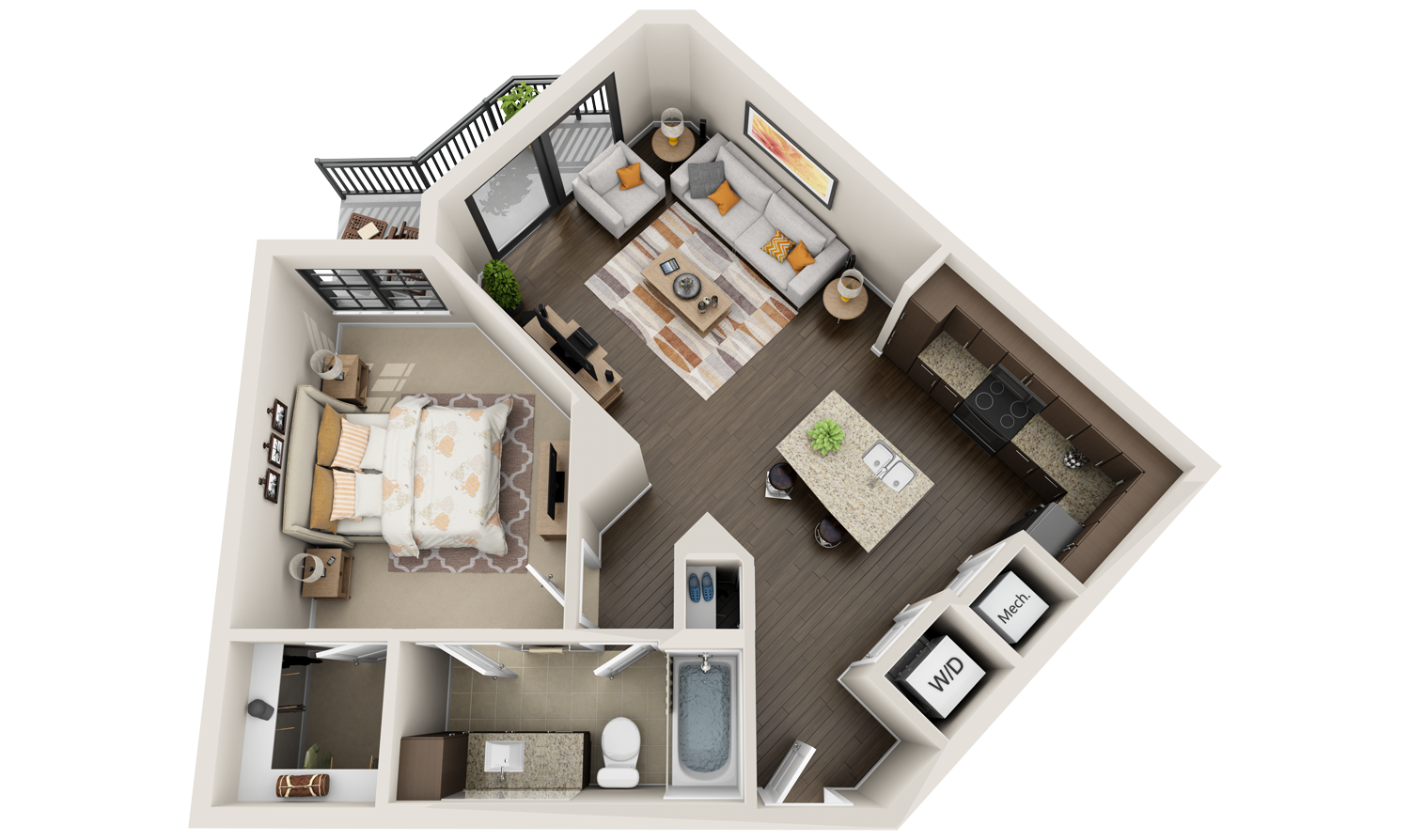apartment 3d floor plan Google Search