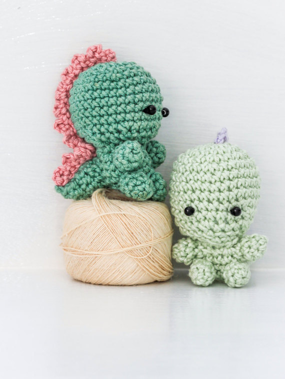 Teeny Tiny Dinosaur Crochet Pattern By Thoresbycottage On Etsy Haken