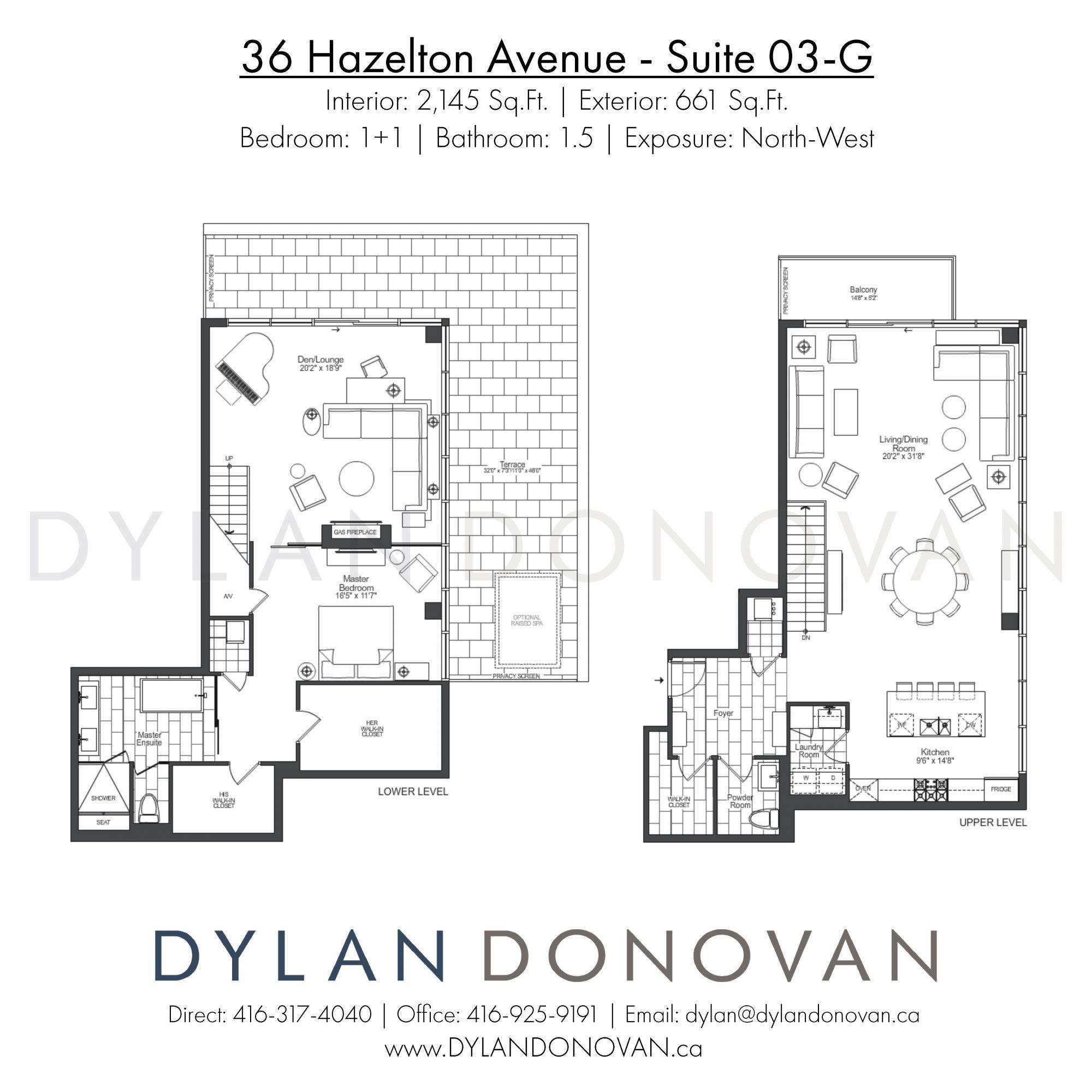 36 Hazelton Avenue Yorkville Floor Plans Luxury Condo Flooring Sale
