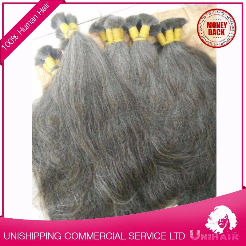 Raw Grey Human Hair For Braiding Wholesale Eurasian ...