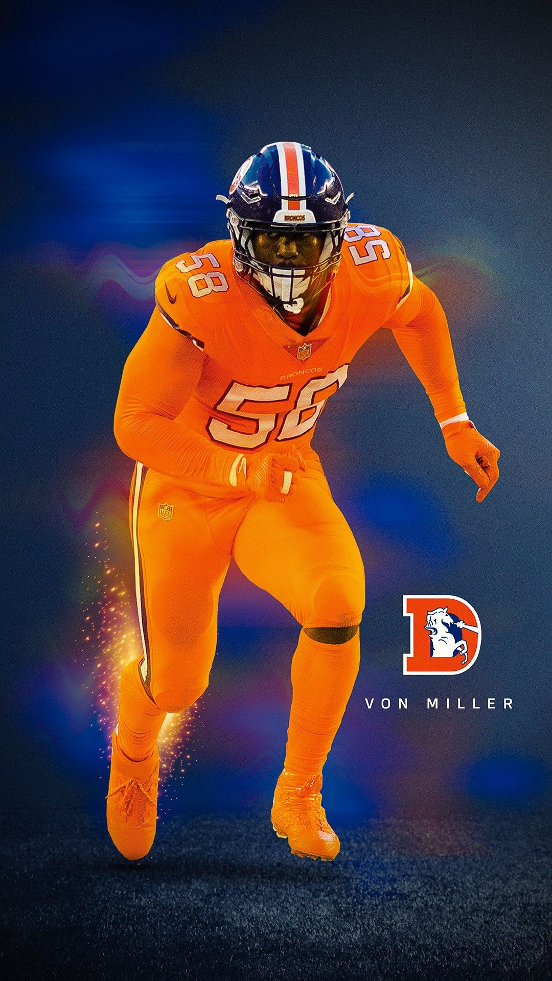 new arrival f995a b80db Von Miller Broncos Color Rush | Football/Basketball ...