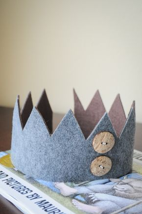 Pretty Real: No Sew Felt Crown Tutorial- Inspired by Where the Wild Things Are