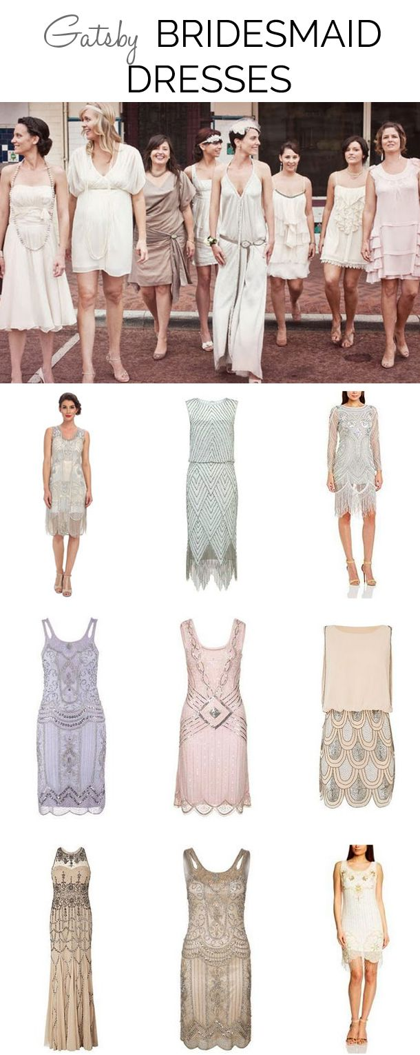 Great gatsby inspired bridesmaid dresses  Great Gatsby Bridesmaid Dresses  Häät