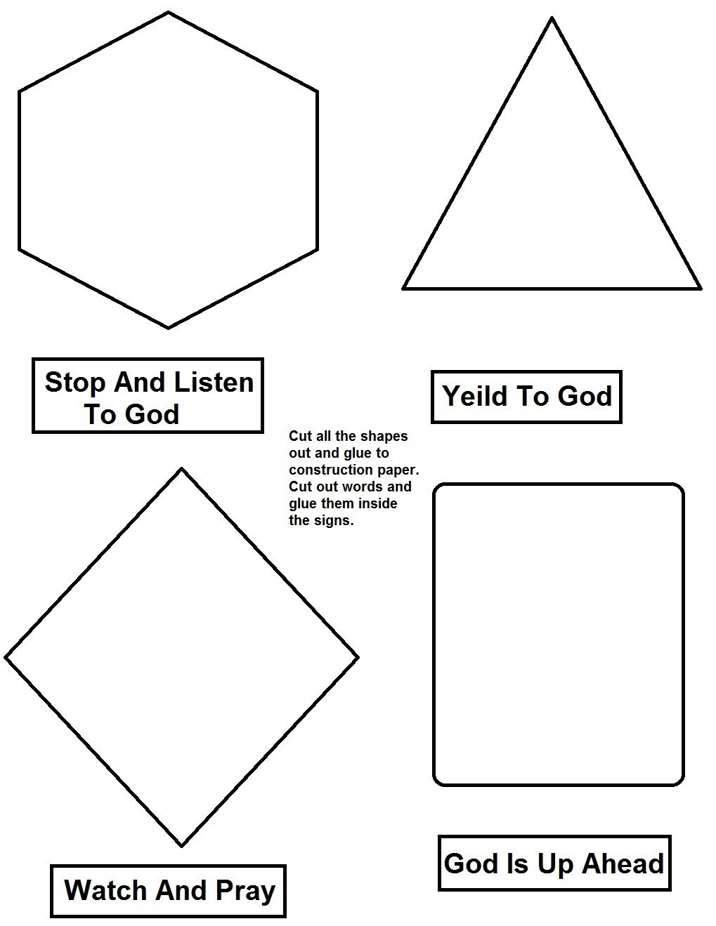 God\'s Road Signs Activity Page 2.jpg 1,019×1,319 pixels | Bible ...