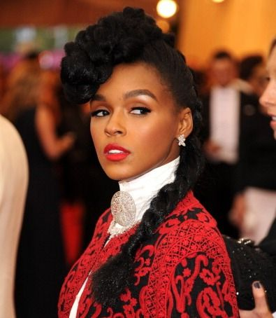 Janelle Monae Google Search Braided Hairstyles Natural Braided Hairstyles Hair Styles