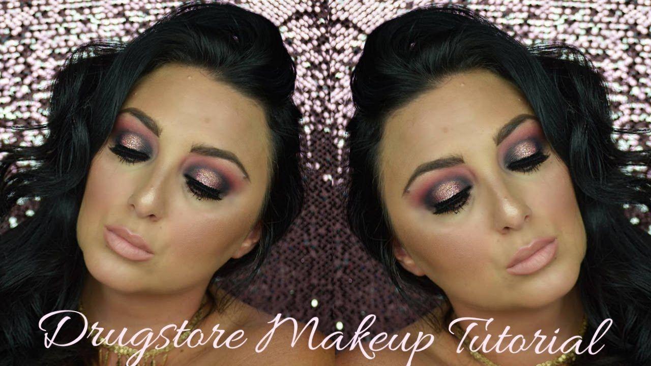 Holiday Glam Drugstore Makeup Tutorial Drugstore makeup