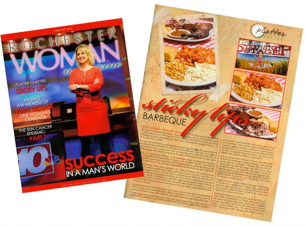 Thanks to Rochester Woman Magazine for the positive review! Sticky Lips Barbeque…