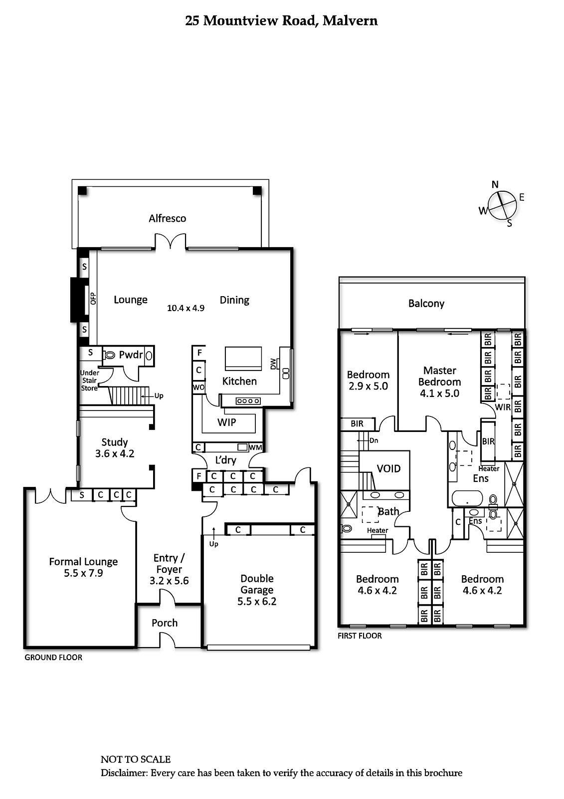 Queen Bed In 10x10 Room: 25 Mountview Road, Malvern, Vic 3144 - Floorplan