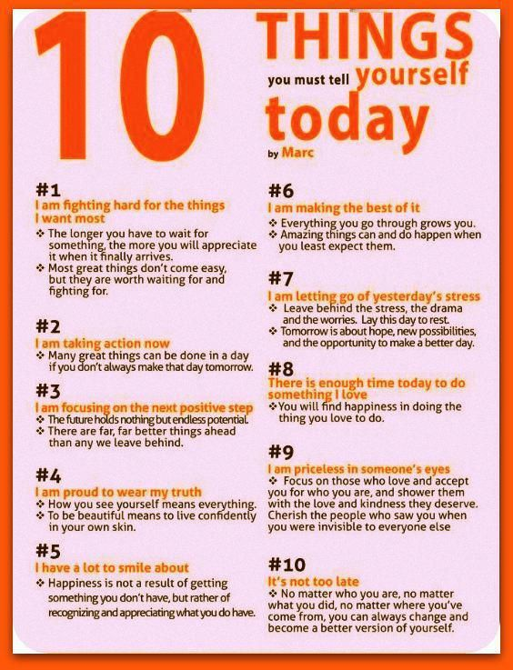 Things you must tell yourself today and everyday