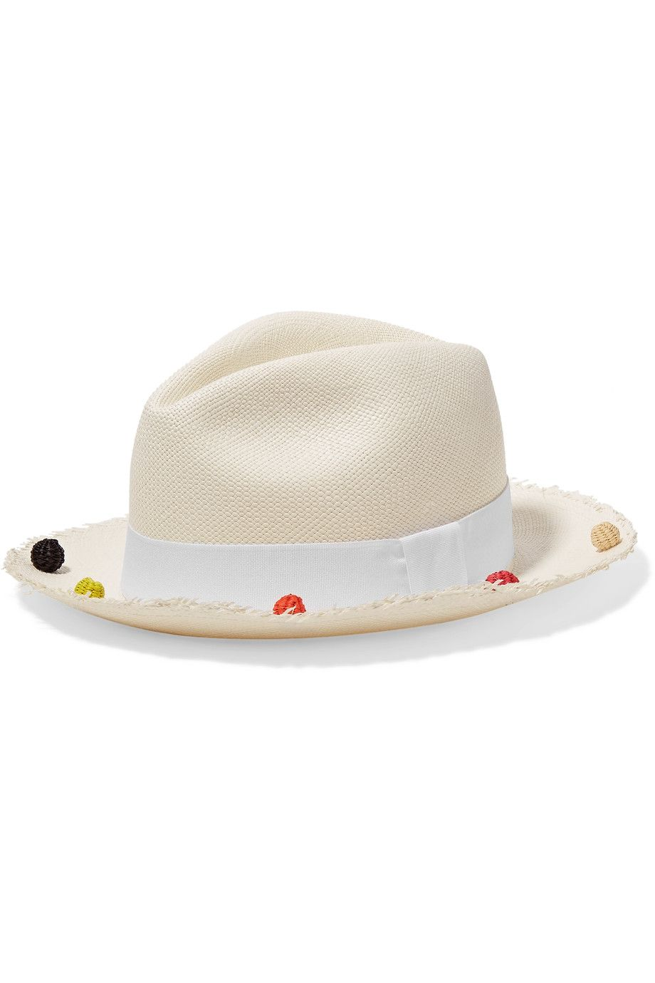 Shop on-sale Sensi Studio Pompom-embellished toquilla straw Panama hat .  Browse other discount designer Hats   more on The Most Fashionable Fashion  Outlet b4810c6763d1