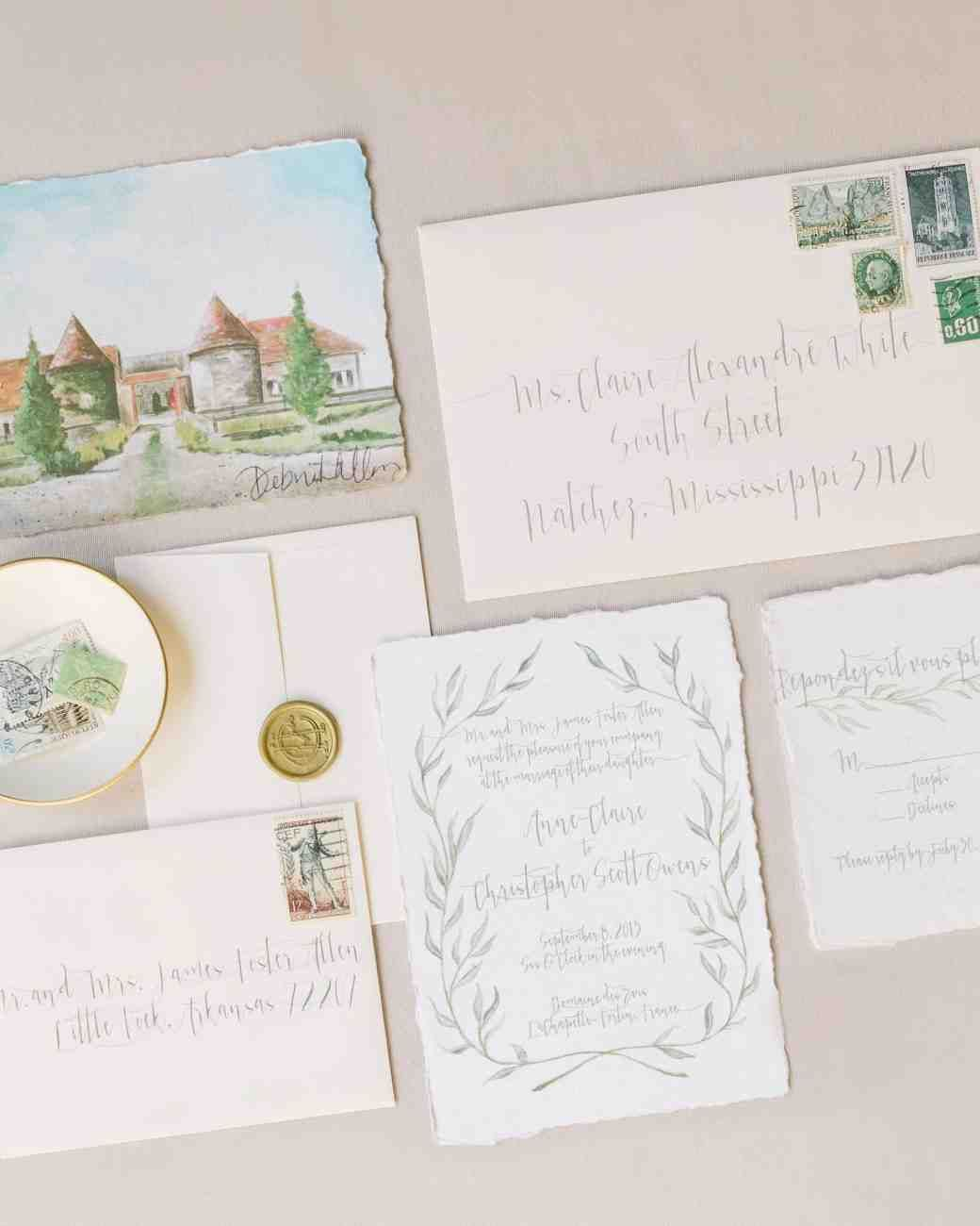 Intimate Wedding Invitation Wording: An Elegant, Intimate Wedding In The French Countryside