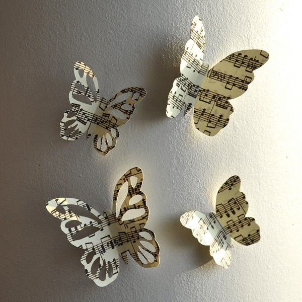 papillons muraux partition notes de musique zodio. Black Bedroom Furniture Sets. Home Design Ideas