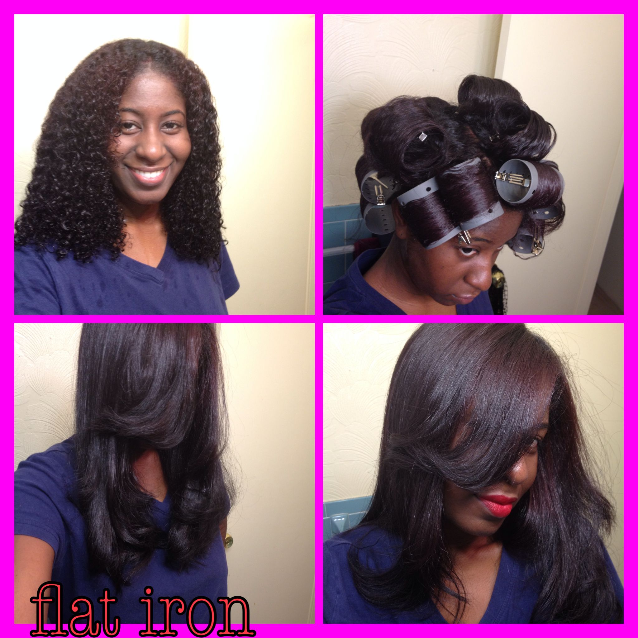 washed and deep conditioned natural hair. add leave-in (chi