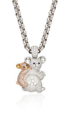 A 'HAPPY DIAMOND' KOALA BEAR PENDANT NECKLACE, BY CHOPARD