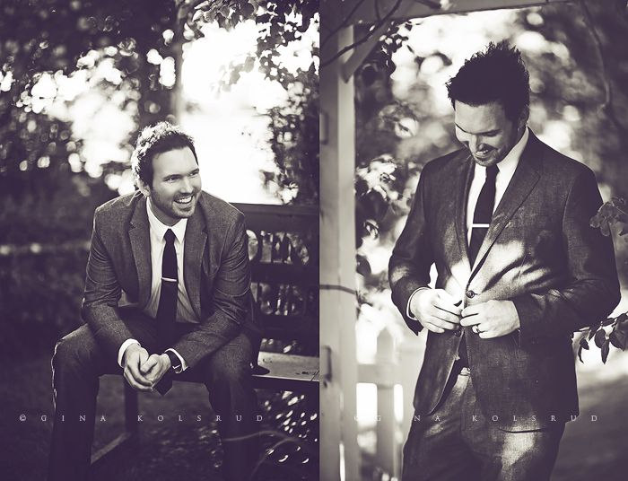.Love these groom shots!  Only one missing is the one when he is fixing his tie!