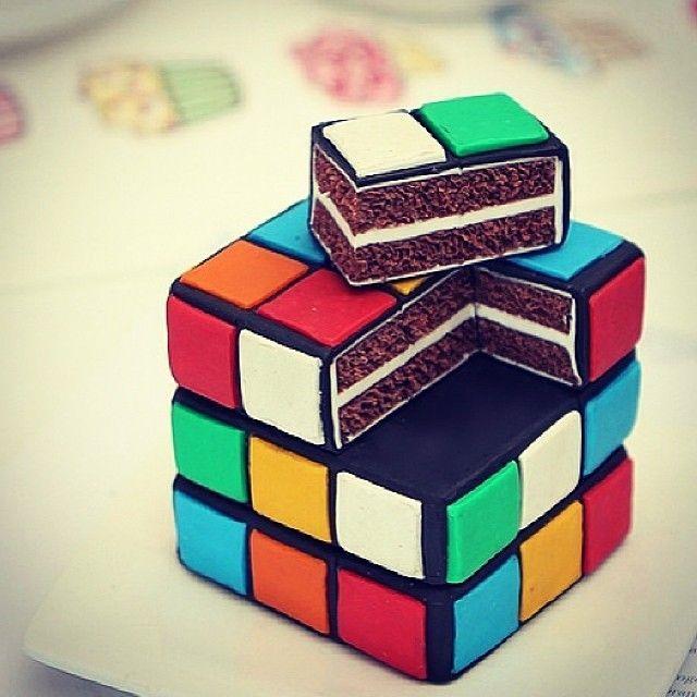 How to make a rubik s cube cake