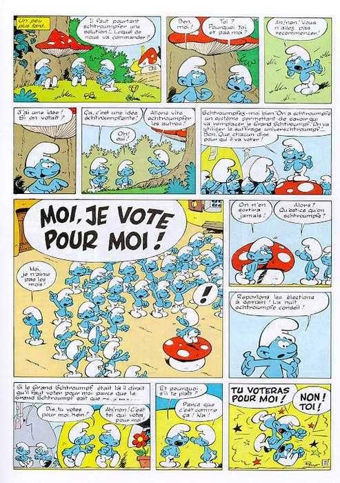 Le Cahier de Français: LES SCHTROUMPFS | Bande dessinee: planches ...