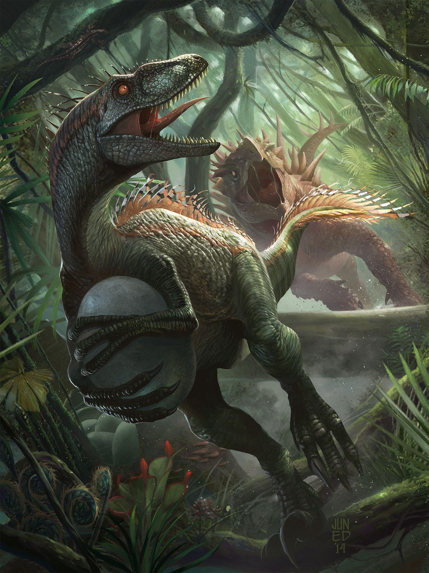 Thief Raptor, Junaidi Lim #prehistoriccreatures ArtStation - 小偷猛禽,Junaidi Lim