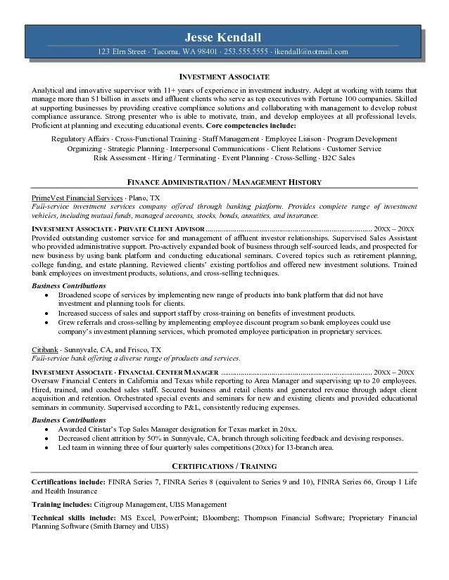 Superb Fieldstation.co Idea Investment Banking Associate Resume